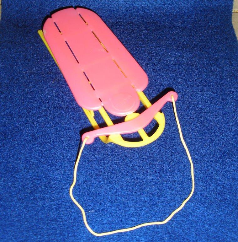 Barbie Skipper Doll Sled 3475 Goin' Sleddin' Mattel