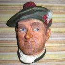 Jock Bossons Chalkware Golfer Figurine Head England 1969