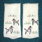 Poodle Embroidery on towels Handmade