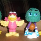 3 McDonalds Fry Guys & Birdie the Early Bird Figures