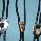 3 Western Bolo Ties, Arrow Heads & Saddle Bola Ties