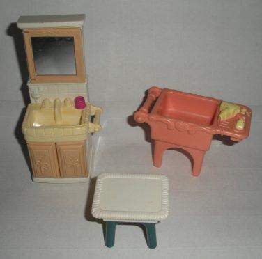 Loving Family Furniture Vanity Sink Table Fisher Price