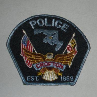 Croften Maryland Police Shoulder Patch 1969