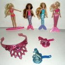 McDonald's Barbie Mermaids American Tale Dolls Crown