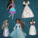 5 McDonald's Barbie Dolls Ballerina, Birthday