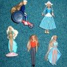 5 McDonald's Barbie Dolls Wheel Chair, Dutch Girl