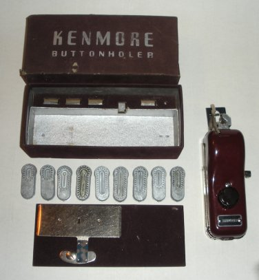 Vintage Kenmore Buttonholer with Extra Plates.