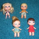4 Bratz Babyz Dolls Real Hair