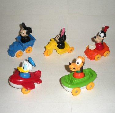 Disney Illco Fisher Price Little People Figures Goofy Pluto Mickey Mouse