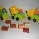 Little People Construction Crane, Dump Truck Fork Lift Lot 21