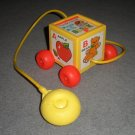 Fisher Price Peek-a-Boo Block Pull Toy 1970