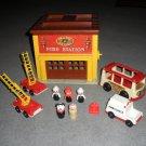 Little People 928 Fire Station Trucks Ambulance Mini Bus Lot 30