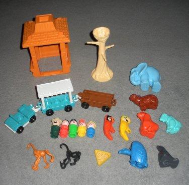 Little People 916 Zoo Parts Parrots Monkeys Trolley Lot 33