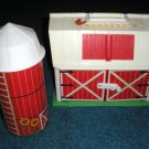 Little People 2501 Barn Silo Farm Animals Rooster Pig Cow Tractor