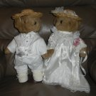 Bride and Groom Plush Wedding Bears
