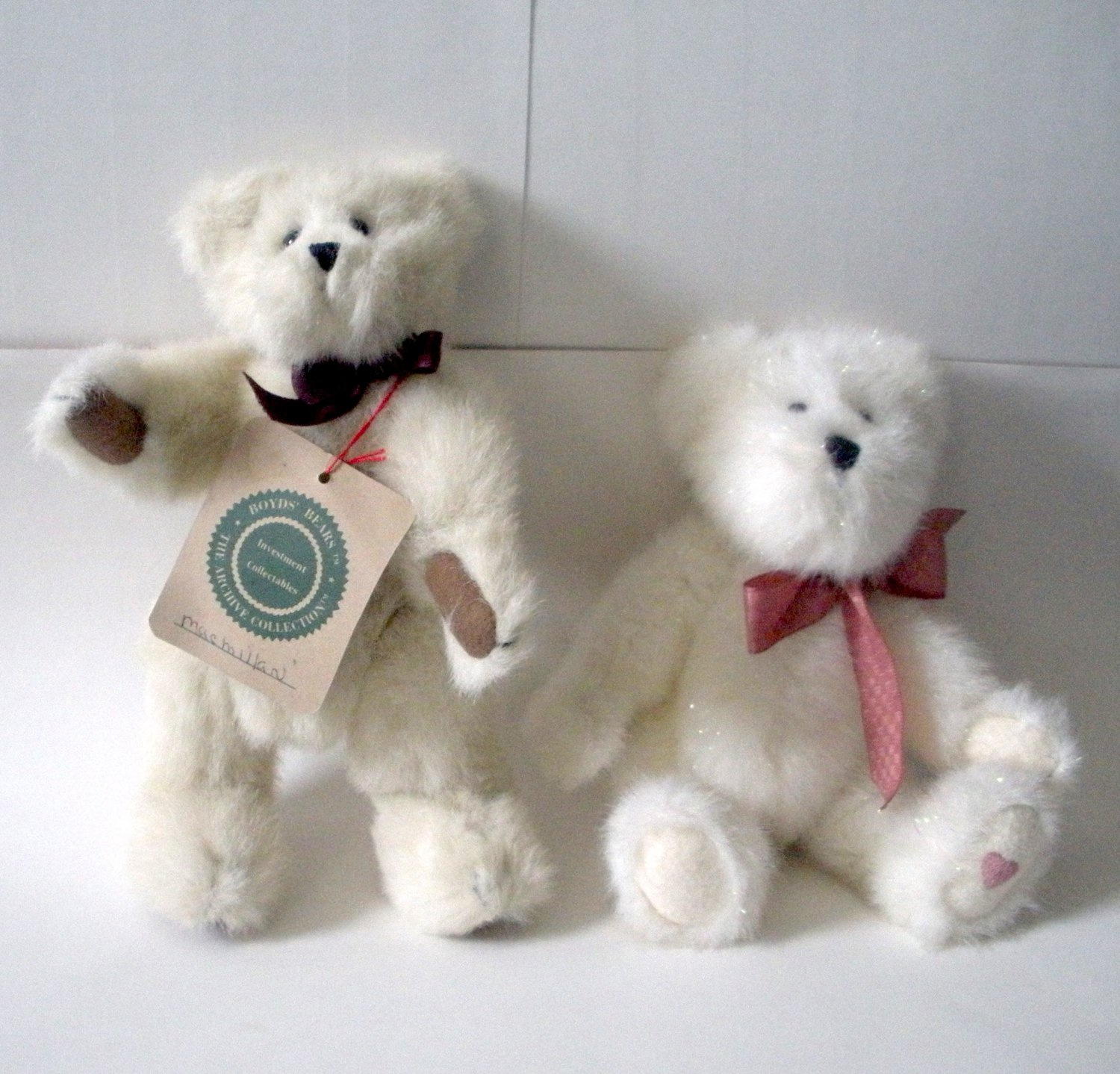 2 Boyds Bears Plush, Macmillan and Sparkles Heart