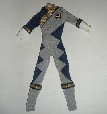 Blue Power Rangers Action Figure Jumpsuit Outfit