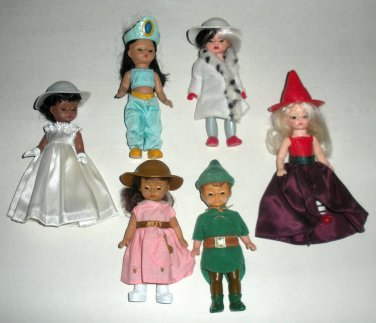 McDonalds Madam Alexander Dolls Witch Cruella Bride Teddy Peter Pan Lot5