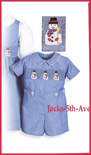 SILLY GOOSE The Wooden Soldier Catalog Boys 4T Holiday Snowman Button On