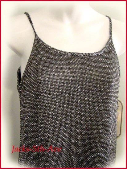 Girls 14 Silver/Black Knit Dress -WOODEN SOLDIER