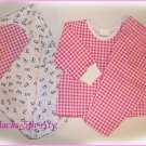 BOUTIQUE - EIO Girls 12 Months 3pc Jammies and Matching Blanket Pink Gingham and Cows