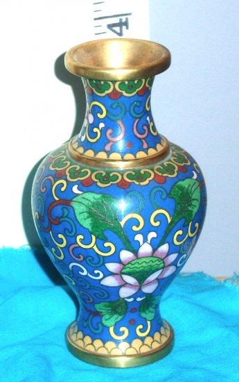 cloisonne 4 inch vase vintage, estate sale