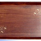 Handmade Wooden Serving Tray/ Dish - Brass Inlay