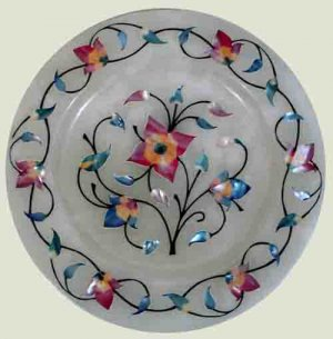 White Onyx Gift Plate - Free Shipping