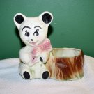 VINTAGE ROYAL COPELY RARE BLACK AND WHITE TEDDY BEAR PLANTER