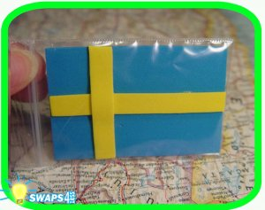 Flag of Sweden  Scout SWAPS Girl Craft Kit - Swaps4Less
