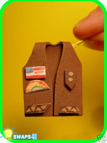 Brownie Vest in 3-D! Scout SWAPS Craft Kit- Swaps4Less