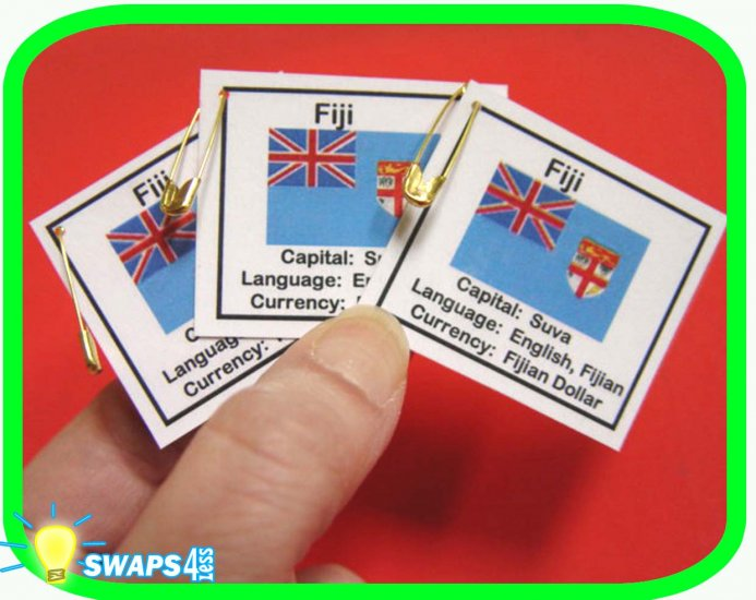 Fiji Fun Facts Scout SWAPS Girl Craft Kit -Swaps4Less