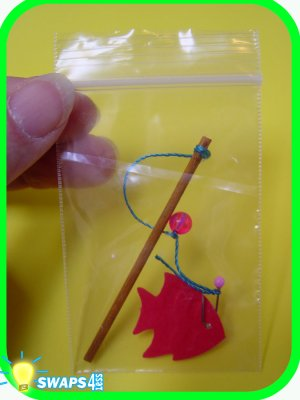 PORTUGAL Mini Fishing Pole  Scout SWAPS Craft Kit  from Swaps4Less