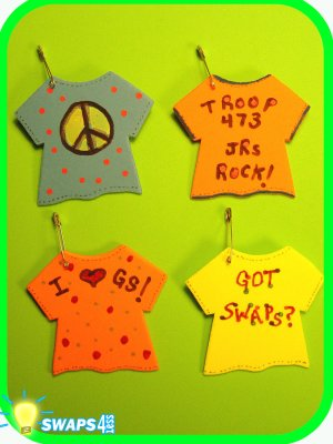 Troop T-Shirt Scout SWAPS Girl Kit-Swaps4Less