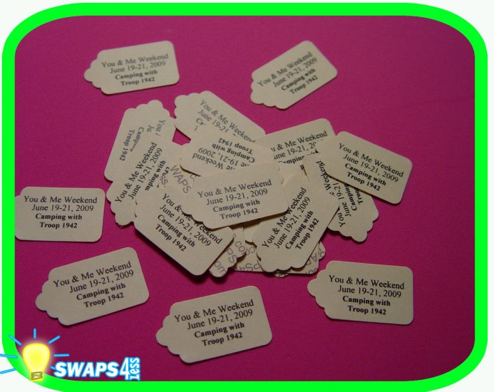 Customized Mini Tags Scout SWAPS Craft Kit - SWAPS4less