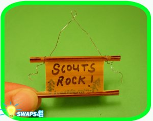 Mini Camp Sign Scout SWAPS Girl Craft Kit - Swaps4Less