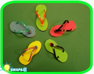 COUNTRIES with FAMOUS BEACHES!  Flip Flop Scout SWAP Girl Craft Kit-Swaps4Less