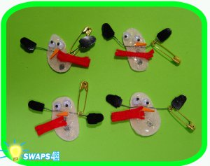 Melted Snowman Scout Christmas SWAPS Girl Craft Kit-Swaps4Less