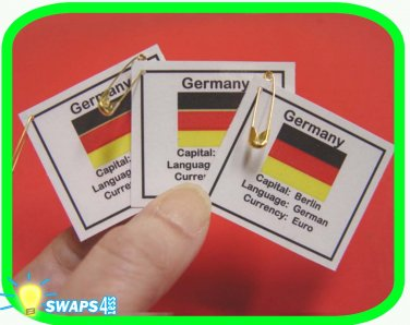 Germany Fun Facts Scout SWAPS Girl Craft Kit -Swaps4Less