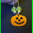 "Halloween Jack-o-lantern Coil-less Charm Pin ""Girl Scout""  ""Boy Scout"" SWAPS Craft Kit by Swaps4Less"
