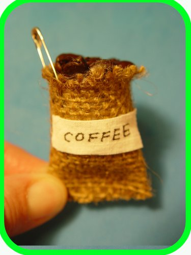 COFFEE GROWING COUNTRIES- Sack of Coffee Beans - Scout SWAPS Girl Craft Kit - Swaps4Less