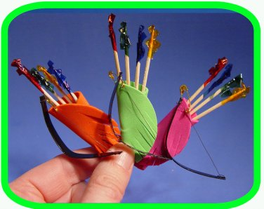 Merry Old ENGLAND Robin Hood  Archery Set  Scout SWAPS Girl Craft Kit-Swap4Less