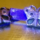 Violet Butterfly - Embellished Hair Clips