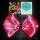 Kelsey - Large Hair Bow - Pink w/ Black Band