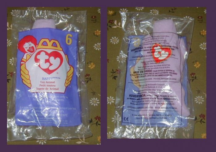 TY TEENIE BEANIE BABY - HAPPY !  MIP MCDONALDS 1998 collection