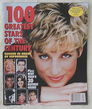 PRINCESS DIANA ! 100 GREATEST STARS CENTURY MAG - FALL 99