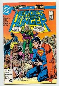 HEROES AGAINST HUNGER ! DC COMICS 1986 VF/NM CONDITION