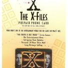 X-FILES $10 PREPAID PHONE CARD