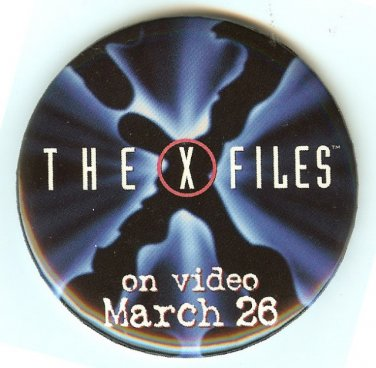 X-FILES PIN-BACK BUTTON