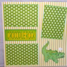 """Crocodile Rock""-Premade Scrapbook Page 12x12"